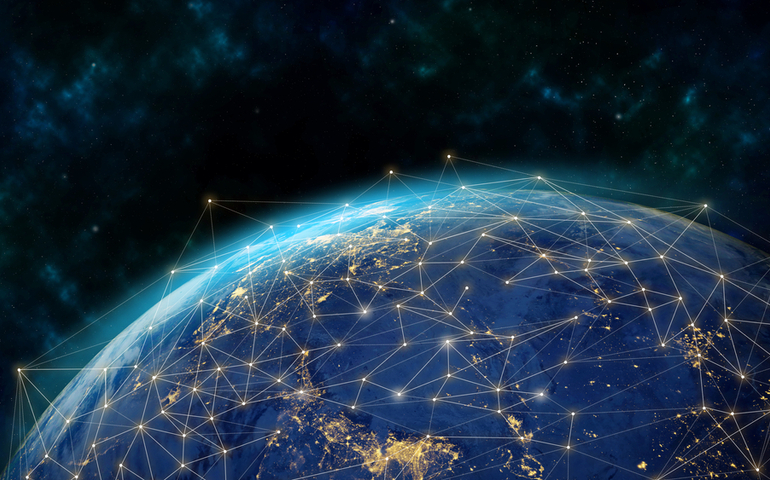 Picture of world being connected